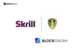 logos do Leeds e Skrill lado a lado em forma de parceria.