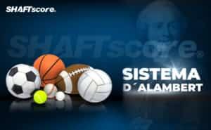 Bolas esportivas e Sistema D'Alambert de fundo.